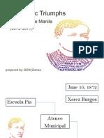 Scholastic Triumphs at Ateneo de Manila