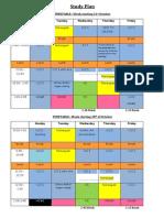 study plan week 44-45