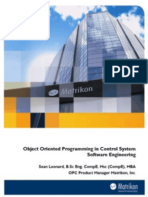 Wp 06 004 Matrikon Opc Pdf Object Oriented Programming Object Computer Science Free 30 Day Trial Scribd