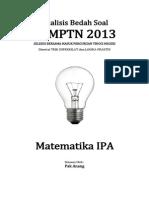 Analisis Bedah Soal SBMPTN 2013 Matematika IPA.pdf