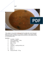 Sambar for Ven Pongal.docx