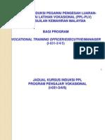Kursus Induksi PPL-VTO 31052011