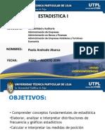 Presentación de Estadística I Univ de Loja dist frecuencia med.tend.central