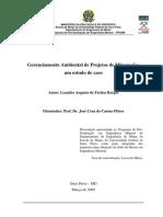 Mineração, Gerenciamento Ambiental do Projetos, Estudo de Caso-PPGEM