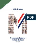 Programa de Gobierno Chile Michelle Bachelet - Nueva Mayoria