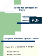 Discretização das equações de Fluxo