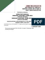 002549 TM 9-1010-221-10 Operator's Manual Grenade Launcher 4