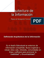 Arquitectura de Información Web