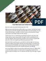7 Seri Nike Dunk Low Terbaik Di Dunia