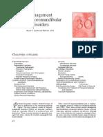 Managment of Temporomandibular Disorders