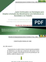 BPC - Inclusao Na Sociedade e No Mundo de Trabalho_Oficina Maio 2013
