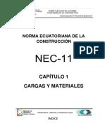 NEC2011 CAPITULO1..Cargas y Materiales