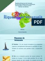 Riquezas de Venezuela