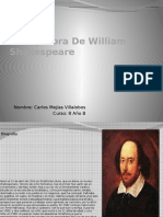 Vida y Obra de William Shakespeare