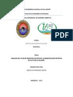 Según el Reglamento de la ley General de Residuos Solidos
