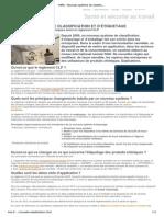 INRS - Nouveau système de classification et d'étiquetage