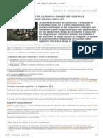 INRS - Système préexistant de classification et d'étiquetage