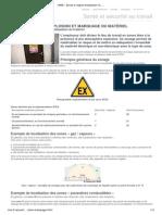 INRS - Zones à risque d'explosion et marquage du matériel