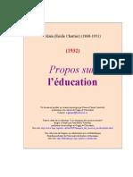 Alain - Propos sur l'education (1932).doc