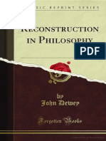 Reconstruction in Philosophy, Dewey