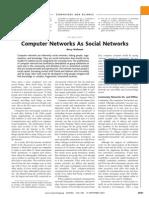 Wellman01-ComputerNetworksAsSocialNetworks