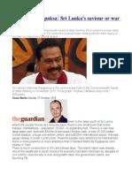 Mahinda Rajapaksa Sri Lanka's Saviour or War Criminal
