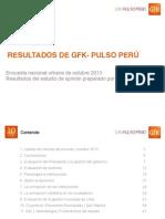 GfK Pulso Peru. Octubre-2013