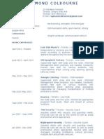 Resume for Raymond 2013