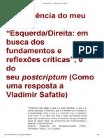 Esquerda e Direita a Procura de Fudamentos 3 - Ruy Fausto
