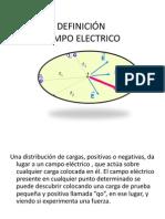 DEFINICIÓN campo electrico