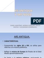 Ars Nova Ars Antiqua