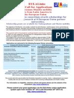 Becas Erasmus Mundus Proyecto European Union Latin America