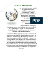 PRINCIPALES MATEMÁTICOS ORIGEN DE LAS MATEMÁTICAS...