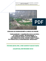 Mejoramiento y Ampliación de los servicios de agua potable, alcantarillado  y saneamiento básico en la localidad de              San Miguel de Luvin, Distrito Santo Tomas, Provincia Luya, Departamento Amazonas