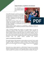 Valentín Paniagua Corazao y el gobierno de transición