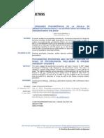 2012 - Veliz - Propiedades Psicometricas de La Escala de Bienestar Psicoogico