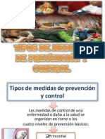 Tipos de medidas de prevención y control