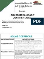 Aguas Oceanicas y Continentales