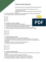EJERCICIOS DE PLAN DE REDACCIÓN
