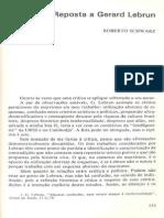 Resposta a Gérard Lebrun (R. Schwarz)