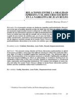 Relaciones Entre La Oralidad Expresiva y La Narrativa de Juan Rulfo