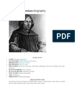 Nicolaus Copernicus Biography