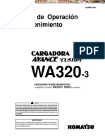 Manual Operacion Mantenimiento Cargadora Avance Wa320 3 Komatsu