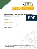 Comparación de dos muestras t-ttest - MINITAB