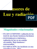 Sensores de Luz y radiación