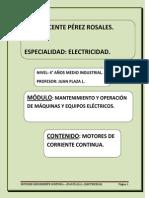 Mantenimiento y Operacion de Maquinas y Equipos Electricos 4 Apunte Motor de Corriente Continua