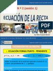 semana Nº2 ECUACIONES DE LA RECTA