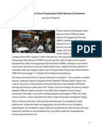 Konsultasi Nasional Forum Pengurangan Risiko Bencana Se-Indonesia