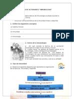 Guia de Actividades. Inmunologia