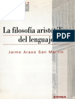 filosofia artistotélica del lenguaje